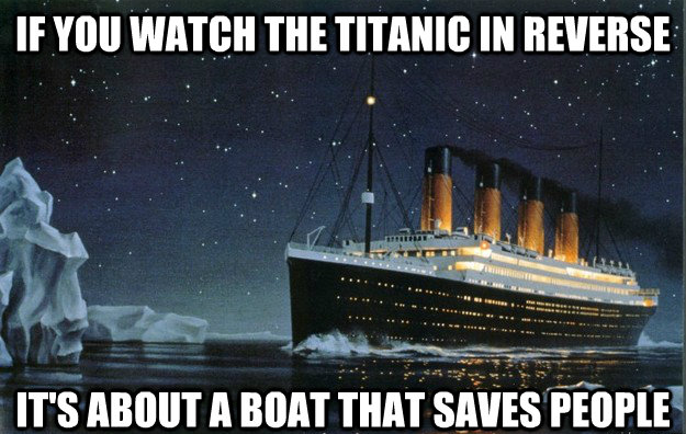 Titanic in reverse