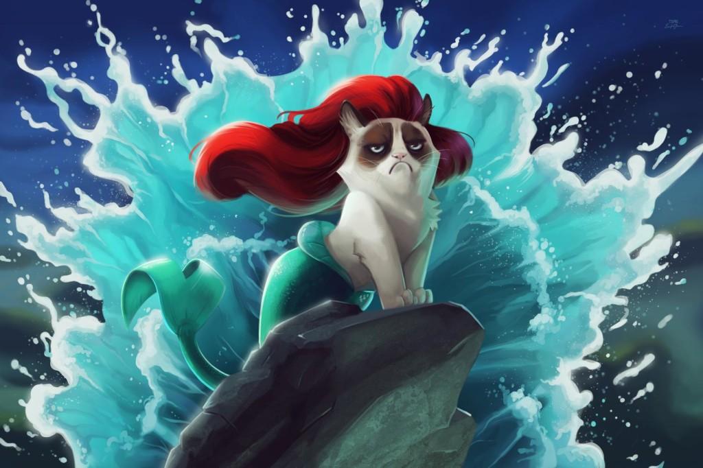 Grumpiest mermaid