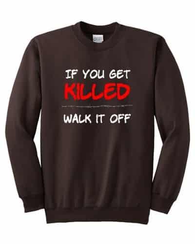 If You Get Killed fleece (chocolate)