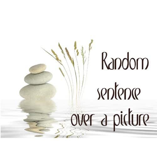 Random Sentence Over a Picture - Swirling Water - T-Shirt (Unisex)