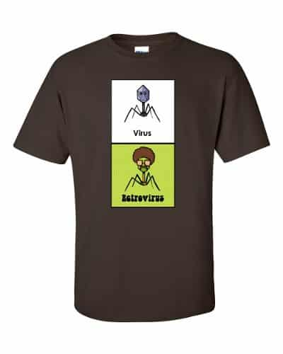 Virus vs Retrovirus T-shirt (chocolate)