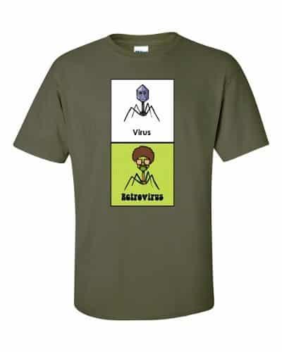 Virus vs Retrovirus T-shirt (military)