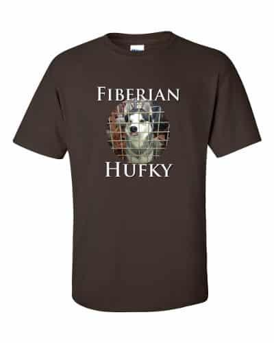 Fiberian Hufky T-shirt (chocolate)
