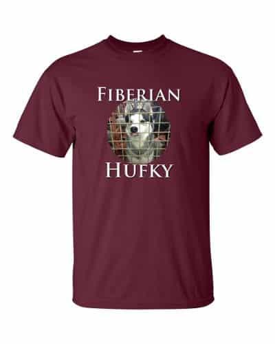 Fiberian Hufky T-shirt (maroon)