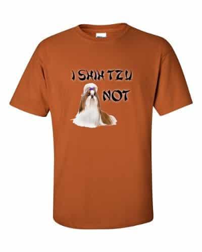I Shih Tzu Not T-Shirt (rust)