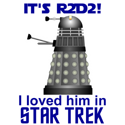 It's R2D2! I loved him in Star Trek!