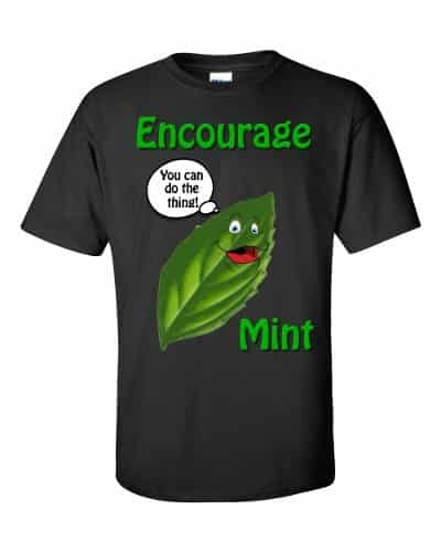 Encourage Mint T-Shirt (black)