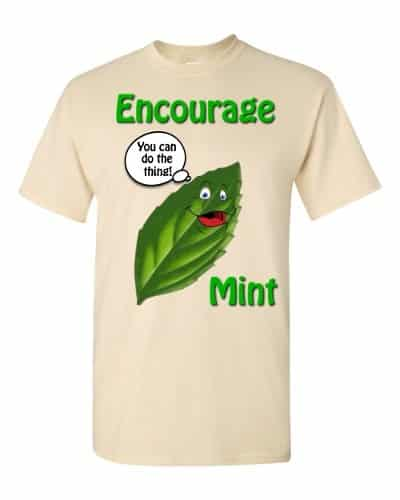Encourage Mint T-Shirt (natural)