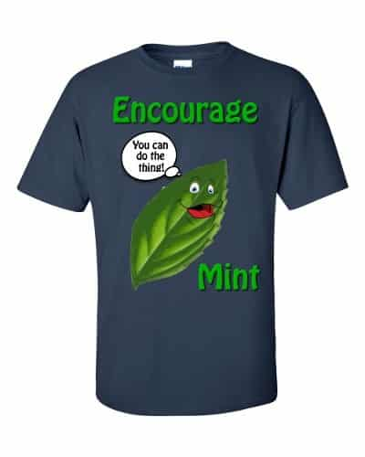 Encourage Mint T-Shirt (navy)