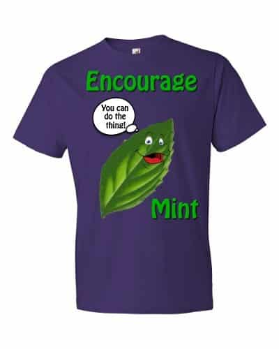 Encourage Mint T-Shirt (purple)