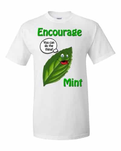 Encourage Mint T-Shirt (white)
