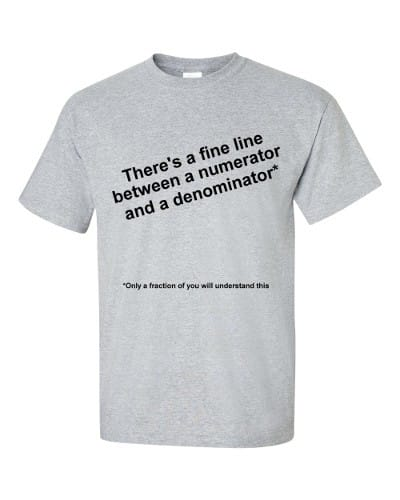 Only a Fraction Will Understand This T-Shirt (slate)