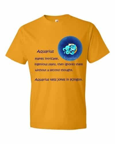Aquarius T-Shirt (tangerine)