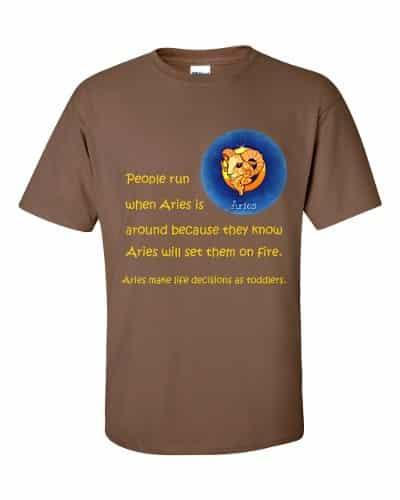 Aries T-Shirt (chestnut)