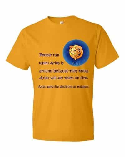 Aries T-Shirt (gold)