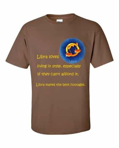 Libra T-Shirt (chestnut)