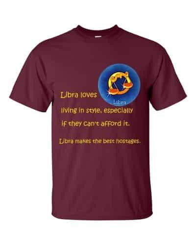 Libra T-Shirt (maroon)