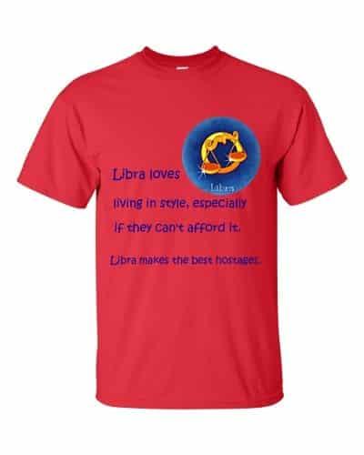 Libra T-Shirt (red)