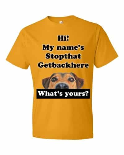 My Name's Stopthat Getbackhere T-Shirt (tangerine)