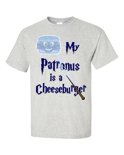 My Patronus is a Cheeseburger T-Shirt (ash)
