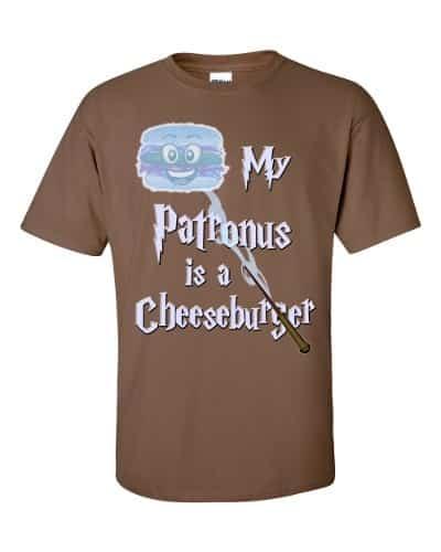 My Patronus is a Cheeseburger T-Shirt (chestnut)