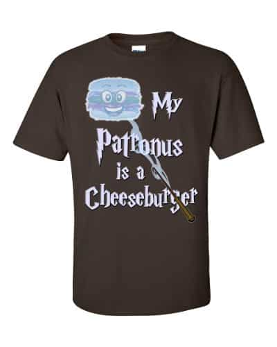 My Patronus is a Cheeseburger T-Shirt (chocolate)
