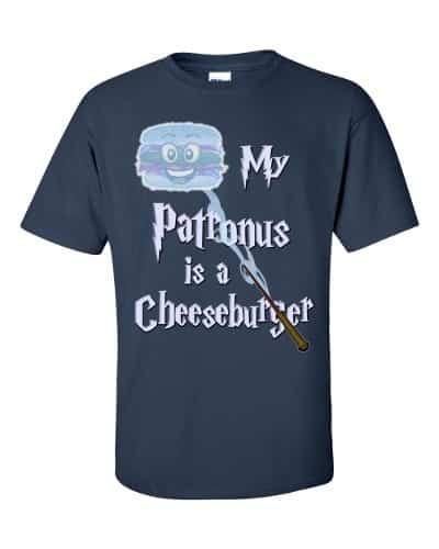 My Patronus is a Cheeseburger T-Shirt (navy)