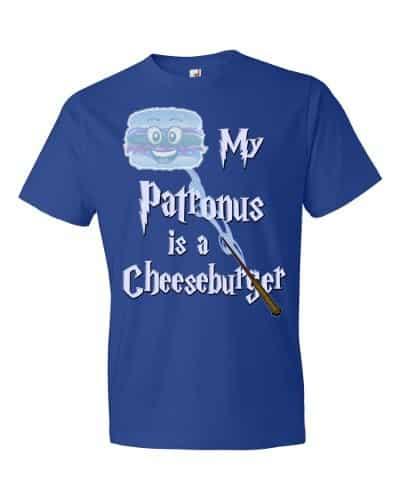 My Patronus is a Cheeseburger T-Shirt (royal)