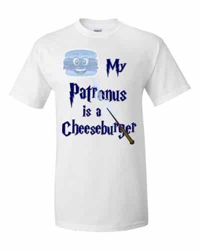 My Patronus is a Cheeseburger T-Shirt (white)