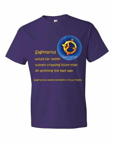Sagittarius T-Shirt (purple)