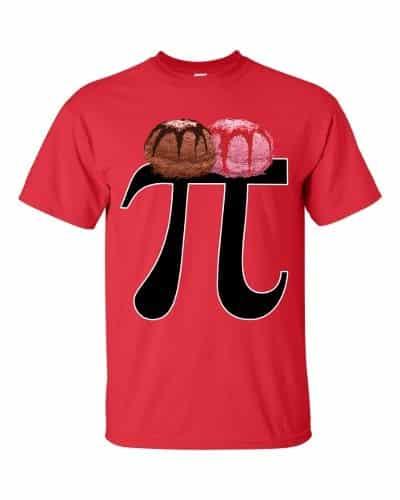 Pi a la Mode T-Shirt (red)