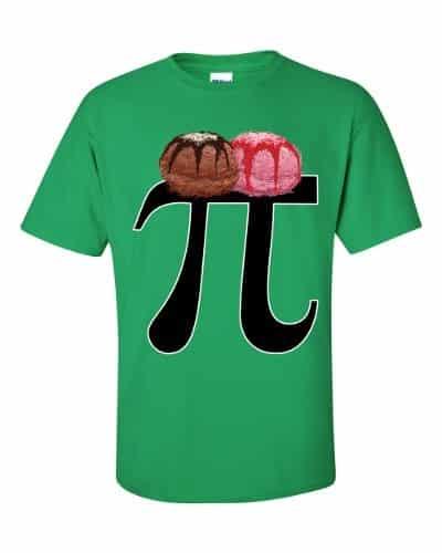 Pi a la Mode T-Shirt (shamrock)