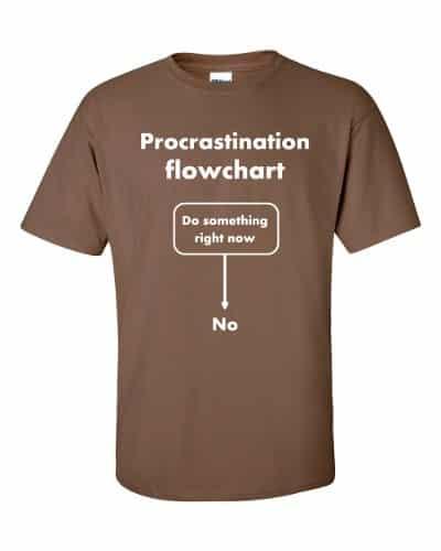 Procrastination Flowchart T-Shirt (chestnut)