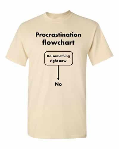 Procrastination Flowchart T-Shirt (natural)