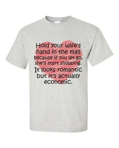 Hold Your Wife's Hand T-Shirt (ash)