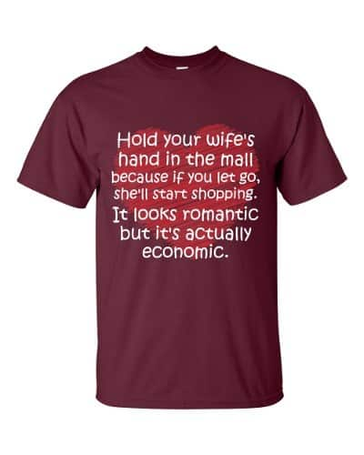 Hold Your Wife's Hand T-Shirt (maroon)