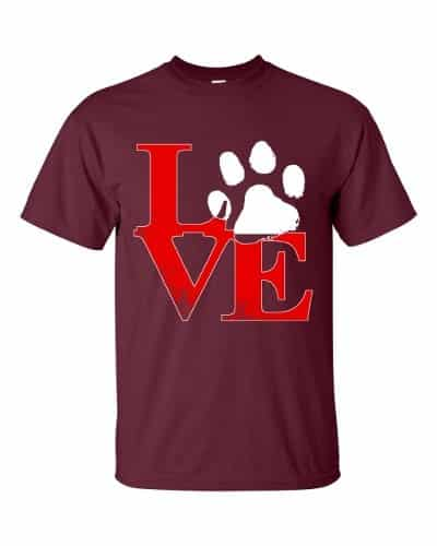 Puppy Love T-Shirt (maroon)