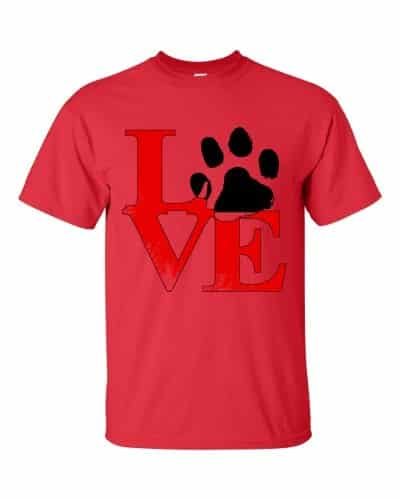 Puppy Love T-Shirt (red)