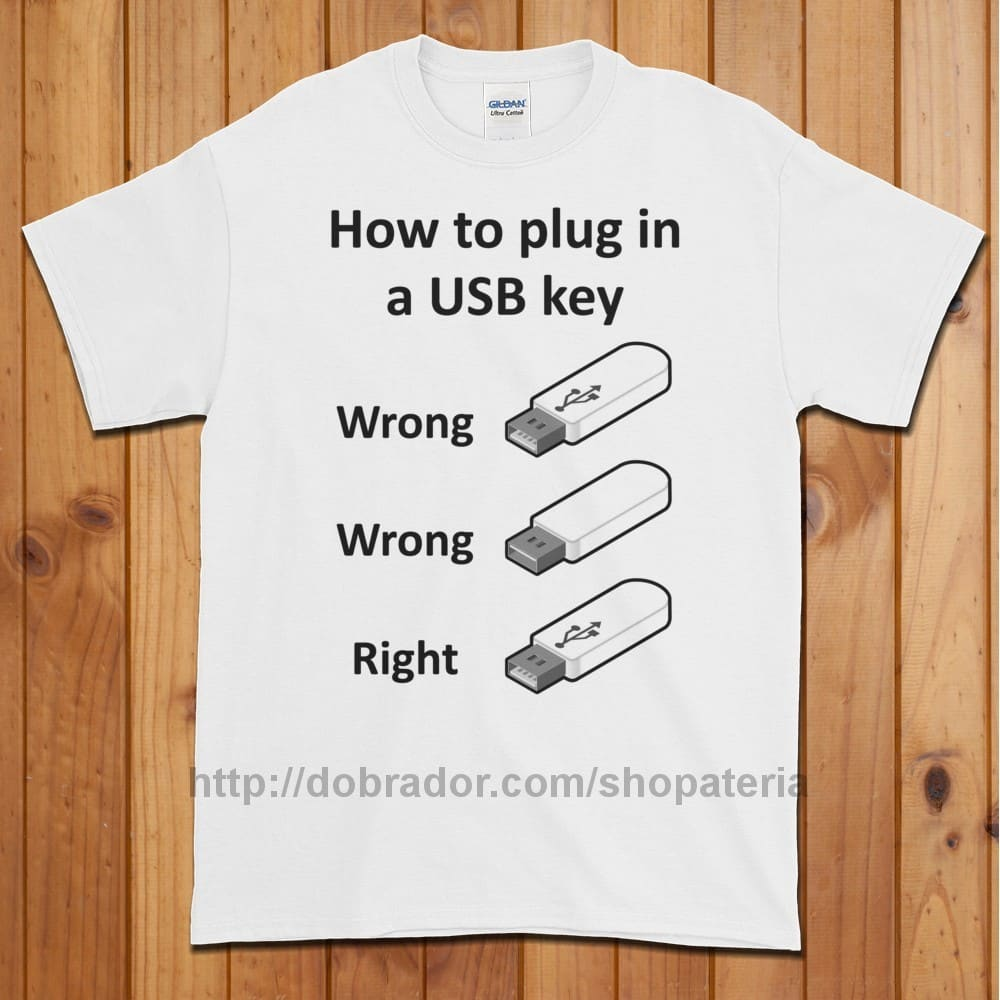 How to Plug in a USB Key