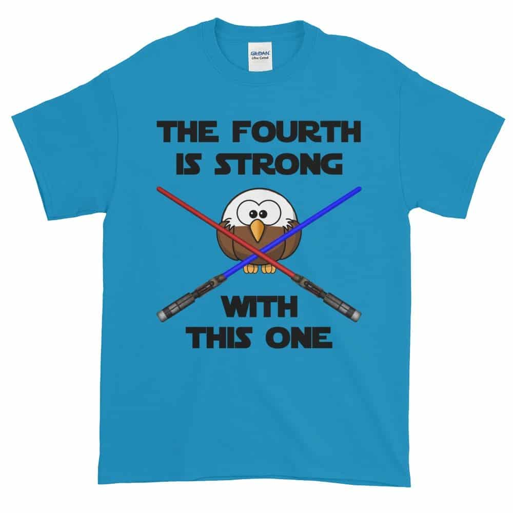 The Fourth is Strong T-Shirt (sapphire)