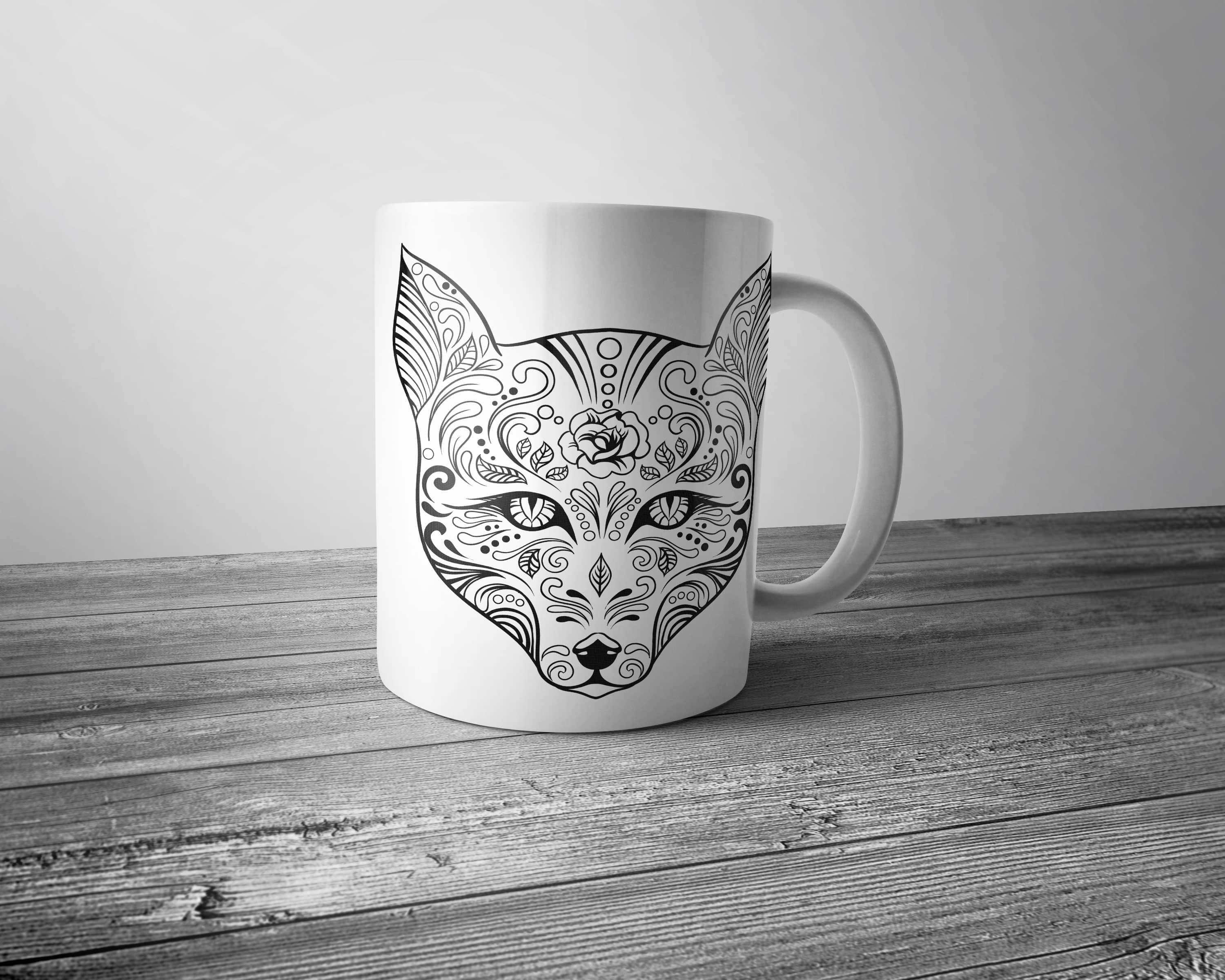 Sugar Fox Colouring Mug