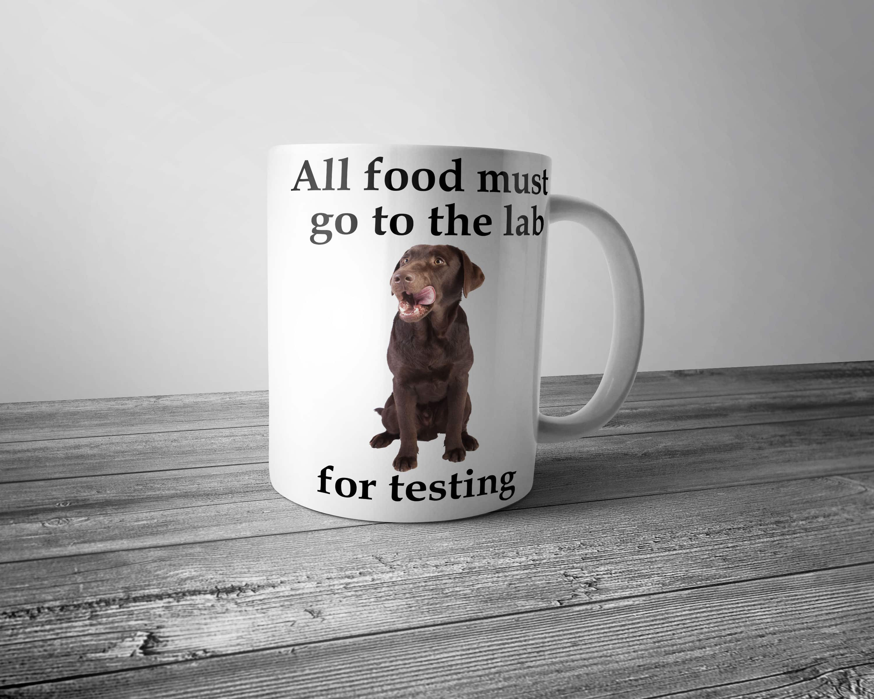 All Food Must go to the Lab for Testing Mug