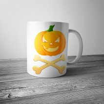 Jack O'Lantern Crossbones Halloween Pirate Mug