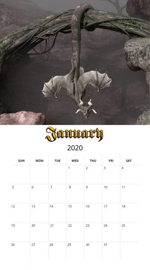 2020 Dragon January - Etsy
