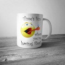 Time's Fun When You're Having Flies Mug