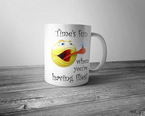 Time's Fun When You're Having Flies Mug