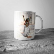 Ancient Egyptian Cat Goddess Bastet Priestess Mug