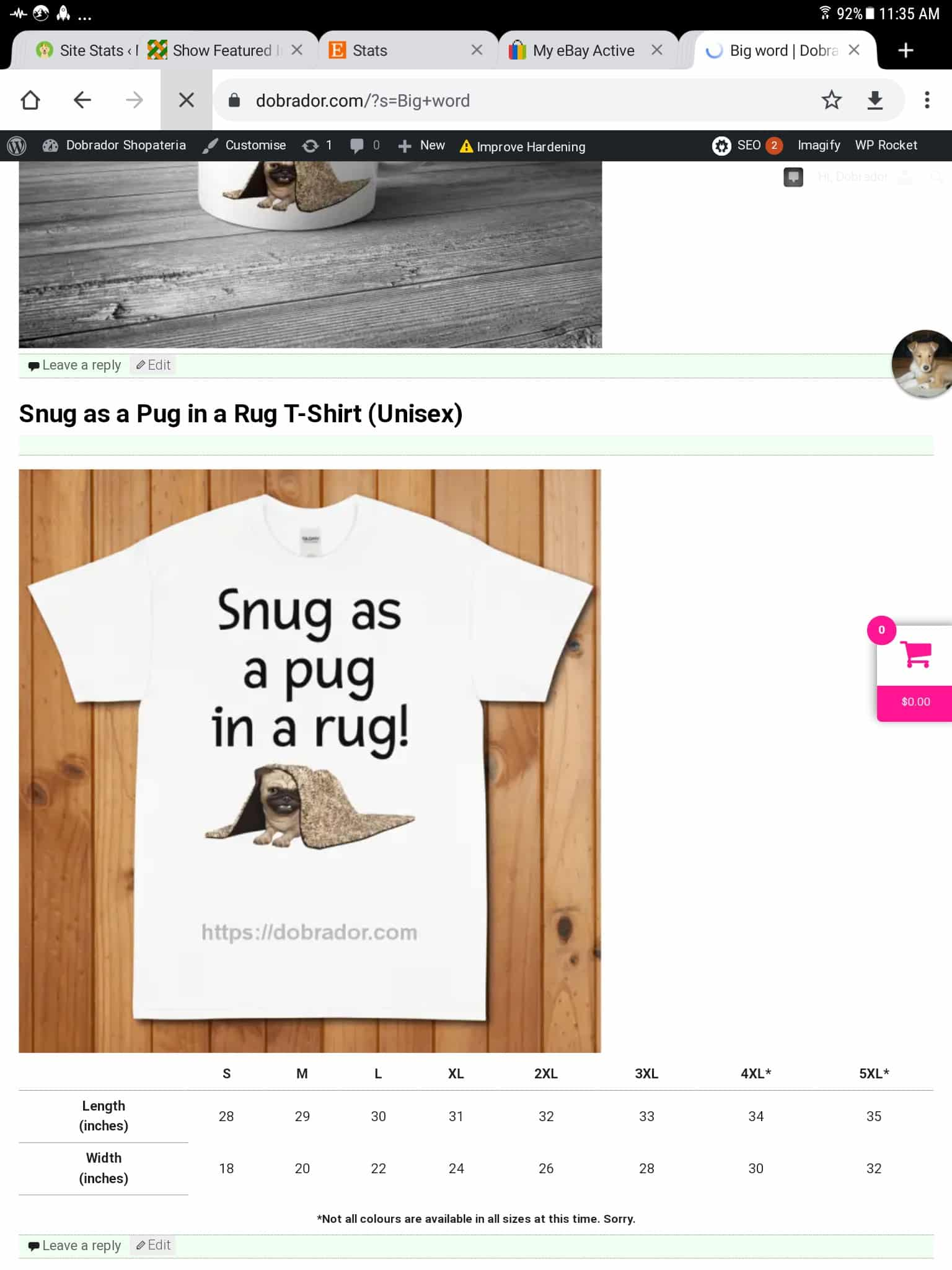 Difference between mugs and tees in search.